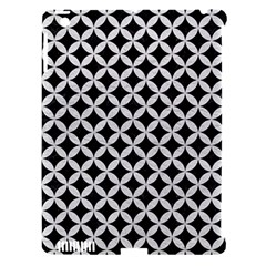 Circles3 Black Marble & White Leather (r) Apple Ipad 3/4 Hardshell Case (compatible With Smart Cover) by trendistuff