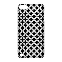 Circles3 Black Marble & White Leather (r) Apple Ipod Touch 5 Hardshell Case With Stand