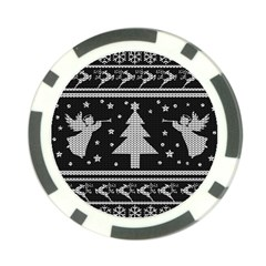 Ugly Christmas Sweater Poker Chip Card Guard by Valentinaart