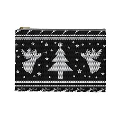 Ugly Christmas Sweater Cosmetic Bag (large)  by Valentinaart