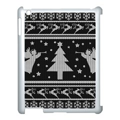 Ugly Christmas Sweater Apple Ipad 3/4 Case (white) by Valentinaart