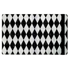 Diamond1 Black Marble & White Leather Apple Ipad 3/4 Flip Case by trendistuff