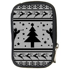Ugly Christmas Sweater Compact Camera Cases by Valentinaart