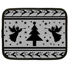 Ugly Christmas Sweater Netbook Case (xl)  by Valentinaart