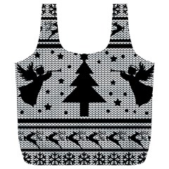 Ugly Christmas Sweater Full Print Recycle Bags (l)  by Valentinaart