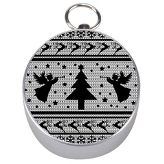 Ugly Christmas Sweater Silver Compasses by Valentinaart