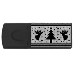 Ugly Christmas Sweater Rectangular Usb Flash Drive by Valentinaart