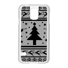 Ugly Christmas Sweater Samsung Galaxy S5 Case (white) by Valentinaart