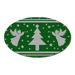 Ugly Christmas Sweater Oval Magnet by Valentinaart