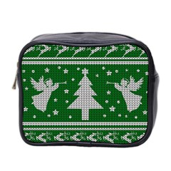 Ugly Christmas Sweater Mini Toiletries Bag 2 Side by Valentinaart