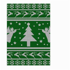 Ugly Christmas Sweater Large Garden Flag (two Sides) by Valentinaart
