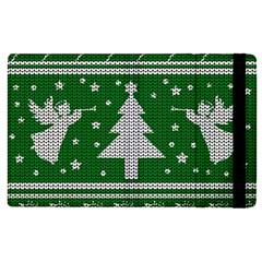 Ugly Christmas Sweater Apple Ipad 2 Flip Case by Valentinaart