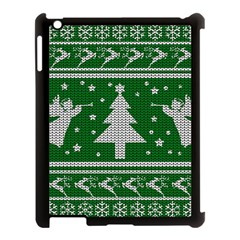 Ugly Christmas Sweater Apple Ipad 3/4 Case (black) by Valentinaart