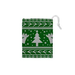 Ugly Christmas Sweater Drawstring Pouches (xs)  by Valentinaart