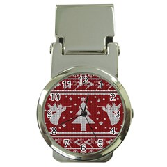 Ugly Christmas Sweater Money Clip Watches by Valentinaart