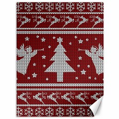 Ugly Christmas Sweater Canvas 36  X 48   by Valentinaart
