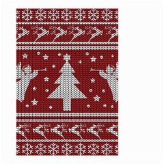 Ugly Christmas Sweater Small Garden Flag (two Sides) by Valentinaart