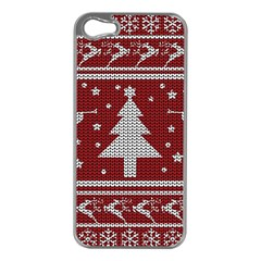 Ugly Christmas Sweater Apple Iphone 5 Case (silver) by Valentinaart