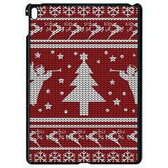 Ugly Christmas Sweater Apple Ipad Pro 9 7   Black Seamless Case by Valentinaart