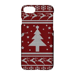 Ugly Christmas Sweater Apple Iphone 8 Hardshell Case by Valentinaart