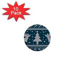 Ugly Christmas Sweater 1  Mini Buttons (10 Pack)  by Valentinaart