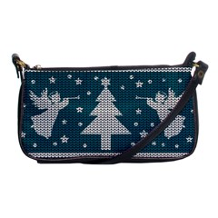 Ugly Christmas Sweater Shoulder Clutch Bags by Valentinaart