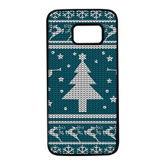 Ugly Christmas Sweater Samsung Galaxy S7 Black Seamless Case by Valentinaart