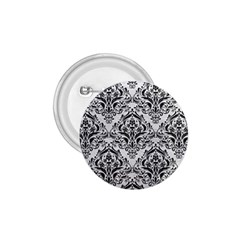 Damask1 Black Marble & White Leather 1 75  Buttons by trendistuff