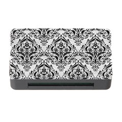 Damask1 Black Marble & White Leather Memory Card Reader With Cf by trendistuff