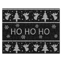 Ugly Christmas Sweater Rectangular Jigsaw Puzzl by Valentinaart
