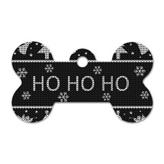 Ugly Christmas Sweater Dog Tag Bone (one Side) by Valentinaart