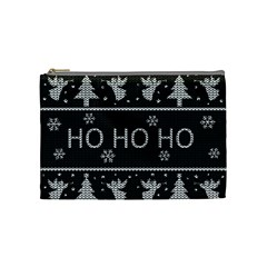 Ugly Christmas Sweater Cosmetic Bag (medium)  by Valentinaart