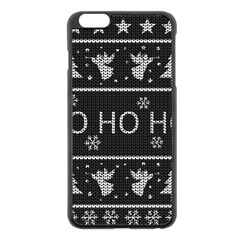 Ugly Christmas Sweater Apple Iphone 6 Plus/6s Plus Black Enamel Case by Valentinaart