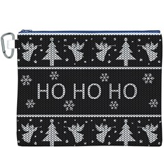 Ugly Christmas Sweater Canvas Cosmetic Bag (xxxl) by Valentinaart
