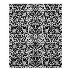 Damask2 Black Marble & White Leather Shower Curtain 60  X 72  (medium)  by trendistuff