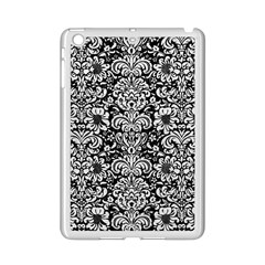 Damask2 Black Marble & White Leather (r) Ipad Mini 2 Enamel Coated Cases by trendistuff
