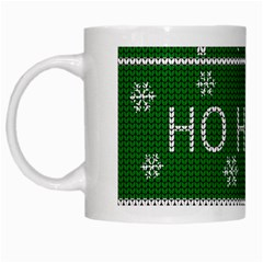 Ugly Christmas Sweater White Mugs by Valentinaart