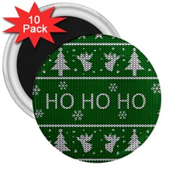 Ugly Christmas Sweater 3  Magnets (10 Pack)  by Valentinaart