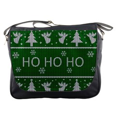 Ugly Christmas Sweater Messenger Bags by Valentinaart