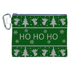 Ugly Christmas Sweater Canvas Cosmetic Bag (xxl) by Valentinaart