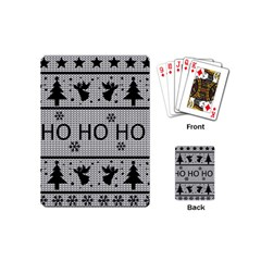 Ugly Christmas Sweater Playing Cards (mini)  by Valentinaart