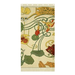 Floral Art Nouveau Shower Curtain 36  X 72  (stall)  by 8fugoso