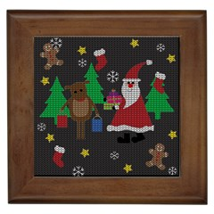 Ugly Christmas Sweater Framed Tiles by Valentinaart