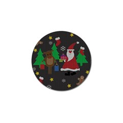 Ugly Christmas Sweater Golf Ball Marker by Valentinaart