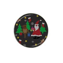 Ugly Christmas Sweater Hat Clip Ball Marker by Valentinaart