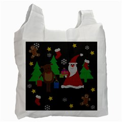 Ugly Christmas Sweater Recycle Bag (one Side) by Valentinaart