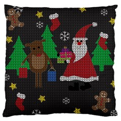Ugly Christmas Sweater Large Cushion Case (one Side) by Valentinaart
