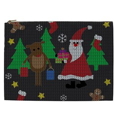 Ugly Christmas Sweater Cosmetic Bag (xxl)  by Valentinaart