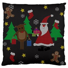 Ugly Christmas Sweater Standard Flano Cushion Case (one Side) by Valentinaart