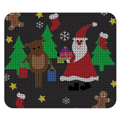 Ugly Christmas Sweater Double Sided Flano Blanket (small)  by Valentinaart